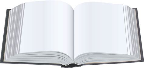 Open Book With Clean Open Book With Blank Pages Premium