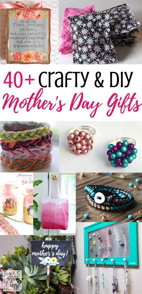 easy handmade diy mothers day gifts feels  home