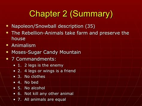 Animal Farm Resume Per Chapter by Animal Farmand Russia