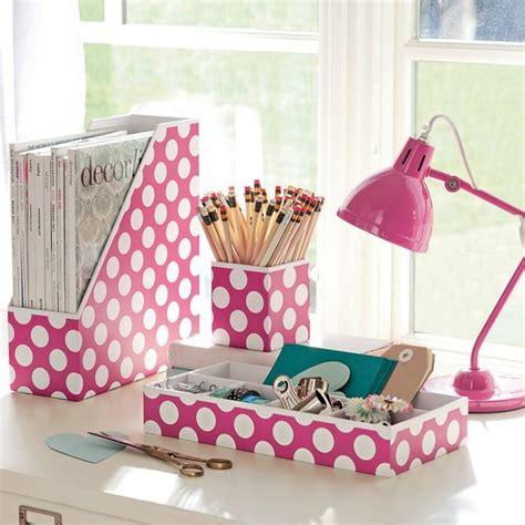 pink desk accessories preppy paper desk accessories pink dottie set of 3