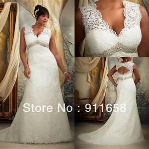 Vintage v neck a line lace open back wedding dress 2013 for Vintage beaded lace wedding dress