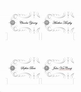 5 printable place card templates designs free With place card printing template