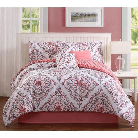 studio 17 perla coral 7 piece full queen comforter set