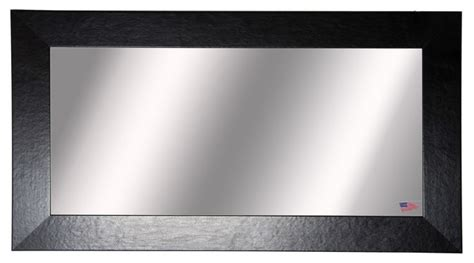American Made Rayne Black Wide Leather Double Vanity Wall