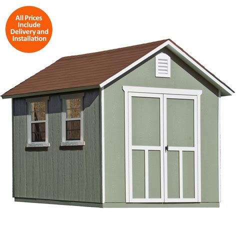 home depot storage sheds installed handy home products installed meridian deluxe 8 ft x 12