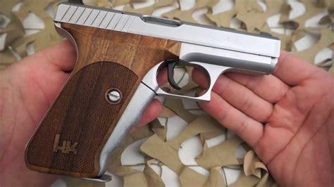 hk heckler koch p hard chrome mm pistol nill wood grips review texas gun blog youtube