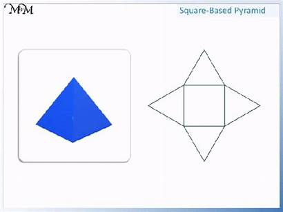Square Shapes 2d Based Faces Pyramid Triangular