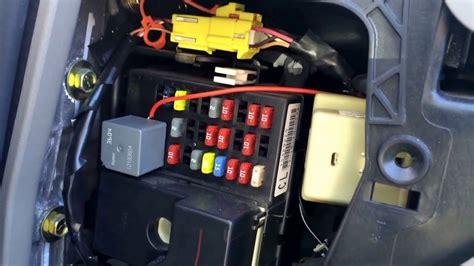 chevy impala   fuse box location youtube