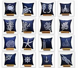 Nautical Pillow Cover set of 4 Mix and Match pillow Navy