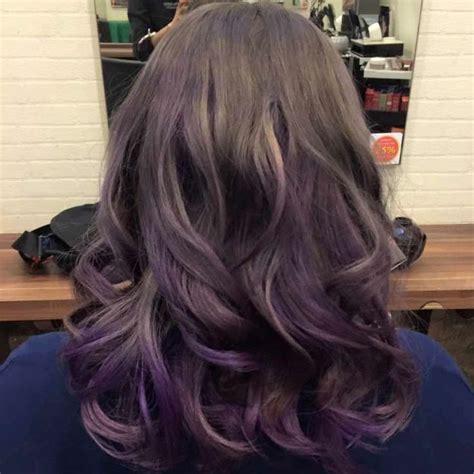 Dark Ash Brown Fade Dip Dye Lavender Pastel Ash Violet