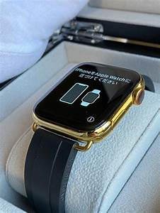 gold plated apple series 6 with oysterflex rolex band