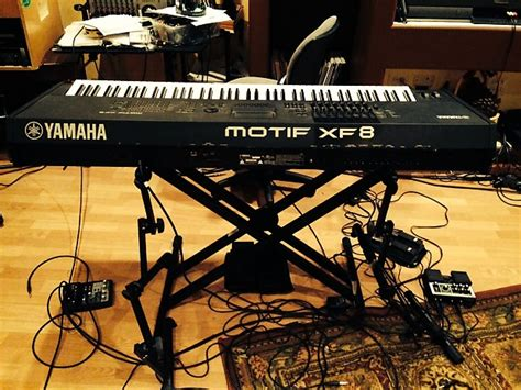 yamaha motif xf8 yamaha motif xf8 with stand and pedals reverb