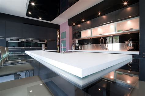 grande cuisine design italien finition anthracite par