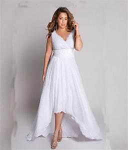 Plus Size Beach Wedding Dress Straps Pleats Chiffon Bedas ...