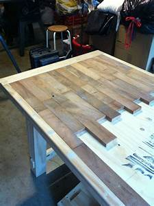 DIY wood plank kitchen table picture step by step ~ would