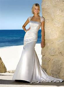 Simple beach wedding dress for formal or casual wedding for Beach dresses for weddings