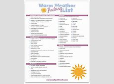 Tips for Vacation Packing & free printable vacation