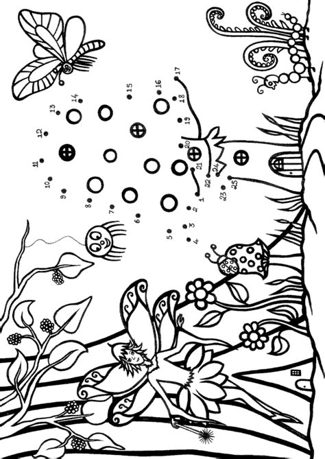 fairy forest colouring  dot  dot rooftop post