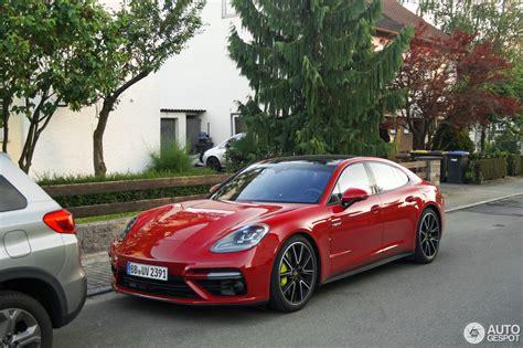 porsche panamera hybrid red porsche panamera turbo s e hybrid in deep red looks a