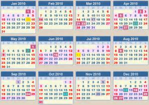 calendar 2010 school terms and holidays south africa