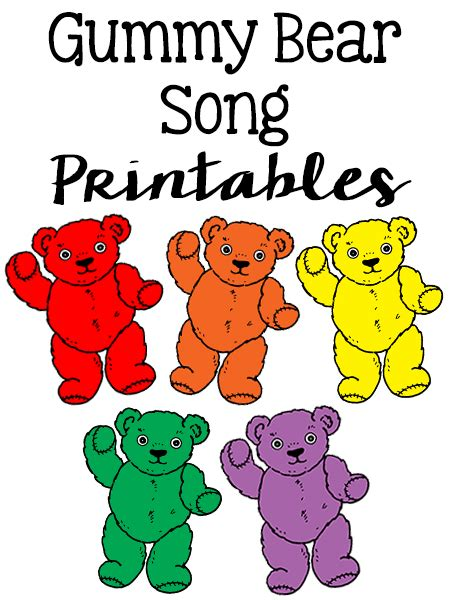 gummy counting song prekinders 819 | gummy bear song