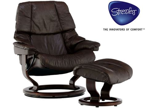 stressless reno small recliner and stool in noblesse