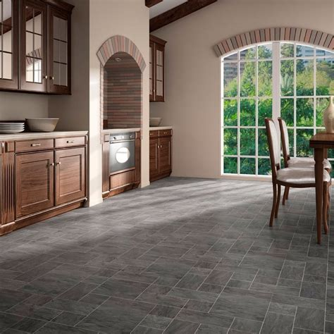 executive mm tile effect laminate flooring slate
