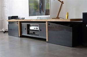 meuble platine vinyle baru design With meuble platine vinyle