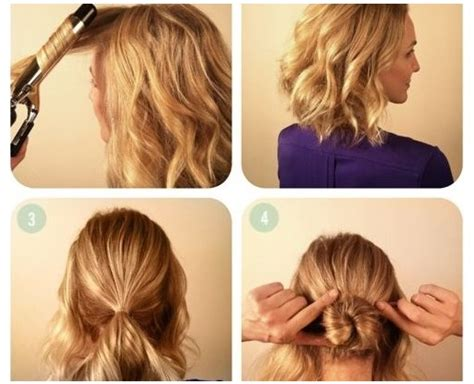 braided bun tutorial  short hair alldaychic