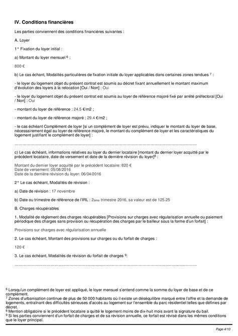 contrat location chambre contrat de location type bail de location pdf hellobail