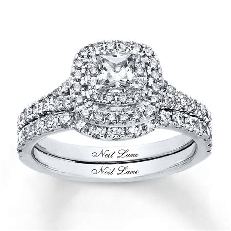 jared neil lane bridal set 1 1 4 ct tw diamonds 14k