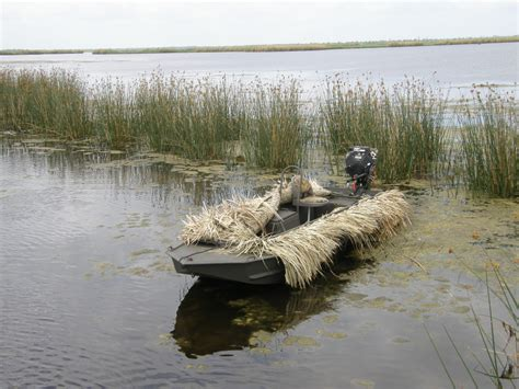 Duck Hunting Rowboat by Go Devil 20 Grass Blinds Go Devil Manufacturers