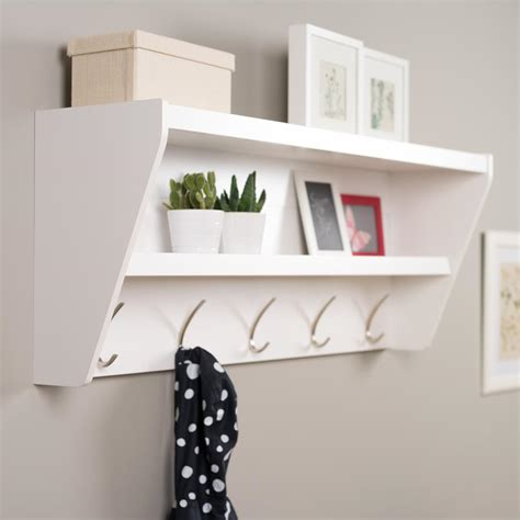 Foyer Shelves by Prepac 48 5 In X 19 25 In Floating Entryway Shelf And