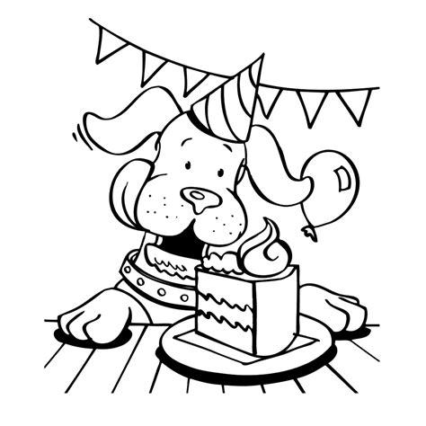 Domme Hond Kleurplaat by Leuk Voor Gefeliciteerd Hondje
