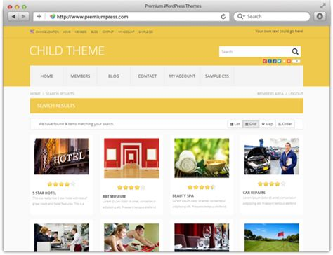 Business directory templates costumepartyrun business directory website template wordpress boblabus wajeb Image collections