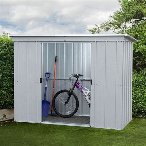 yardmaster store  pz pent metal shed   garden
