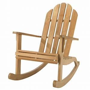 Fauteuil Jardin Bois : fauteuil de jardin bascule teck providence maisons du monde ~ Teatrodelosmanantiales.com Idées de Décoration