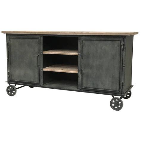 cuisine bois et fer enfilade bahut buffet console meuble métier atelir
