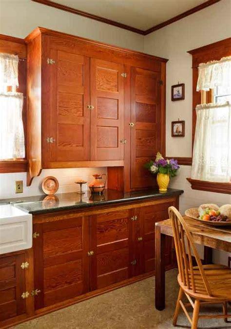 restored cabinets   renovated craftsman kitchen