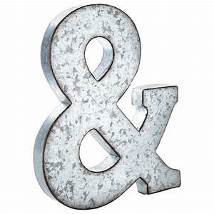 large galvanized metal letter metals With large tin letters