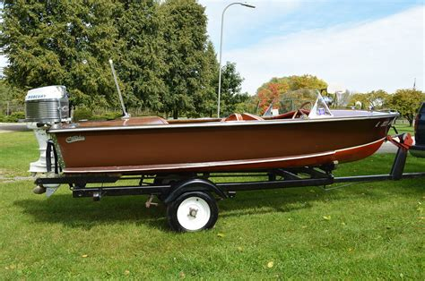 Runabout Boat Wood by Carver Boats Special Wood Runabout 1953 For Sale For