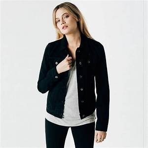 Womens Denim Jacket In Black Rinse $75 | DSTLD