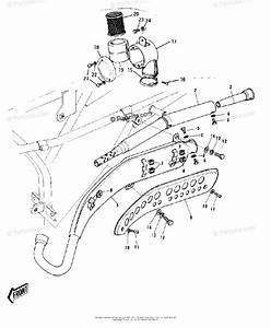 Kawasaki Motorcycle 1972 Oem Parts Diagram For Air Cleaner  Muffler   U0026 39 72