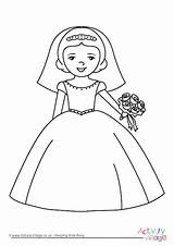 Bride Colouring Pages Coloring Activity Weddings Printable Bridal Activityvillage Princess Shower Groom Bridesmaid Disney Children Dressed Choose Become Member Log sketch template