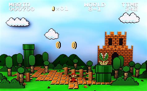 Pixel Mario Wallpapers Images Photos Pictures Backgrounds
