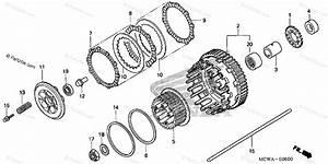 Honda Motorcycle 2007 Oem Parts Diagram For Clutch