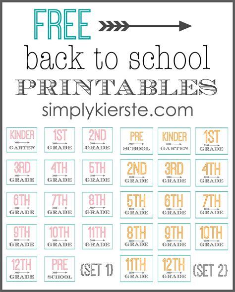 Free Back To School Printables Simplykierstecom