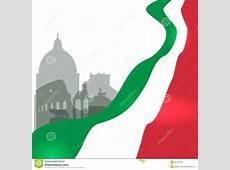 Rome Vector Illustration With Italian Flag Stock Vector