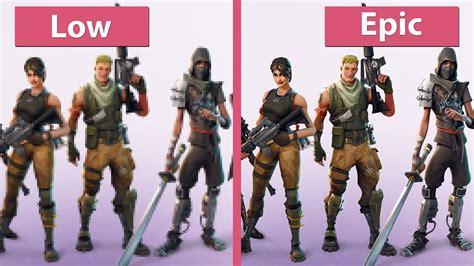 fortnite pc  uhd   epic graphics comparison