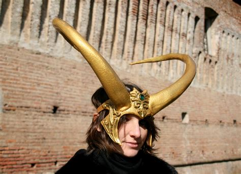 Made To Order Lady Loki Horns Fantasy Cosplay Larp Gold